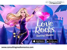 LA MEJOR AGENCIA DIGITAL. Shakira y Rovio (creadores del videojuego Angry Birds), han desarrollado un juego llamada Love Rocks. Con esta nueva propuesta, se invita a los jugadores a unirse a Shakira donde debes dejar caer y asociar joyas de colores con brillantes amuletos, todo empieza en la casa de la cantante en Barcelona, recorriendo el Taj Mahal, El Dorado y más de 150 niveles ambientados por canciones de la colombiana. #miguelbaigts