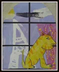 """inspired by Marc Chagall's """"Paris Through the Window"""""""