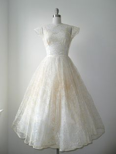 1940s Pussywillow Wedding Dress