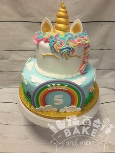 Unicorn Rainbow cake Eenhoorn regenboog taart