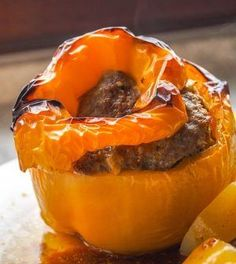 These ground turkey stuffed peppers are clean eating at its best. They are Paleo, and Gluten free, easy to make and so tasty! Paleo Stuffed Peppers, Ground Turkey Stuffed Peppers, Paleo Whole 30, Whole 30 Recipes, Diet Recipes, Healthy Recipes, Clean Recipes, Tasty, Yummy Food