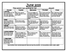 Summer Articulation Homework Calendars Perkilou Products  Slp