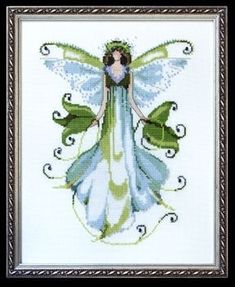 "NC126 - Morning Glory - Pixie Couture Collection - Nora Corbett Designs (Mirabilia Designer) Uses / Description: 862101 Antique White Jobelan 32ct, 429101 Antique White Jobelan 28ct, 65110 French Lace Linen 32ct, 355110 French Lace Aida 16ct  Beads: (# of pkgs) 00168 (1), 02011 (1), 16004 (1), 42027 (1), 42031 (1)  Kreinik: 011HL #4 Braid (B957 or B1957), 015 #4 Braid (B49 or B1049)  See Nora Corbett Embellishment Pack: NC126E  **Approximate size 7"" w x 9"" h"