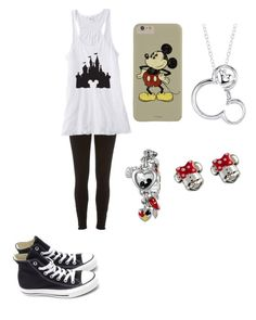 """""""diseny outfit"""" by vivy20 ❤ liked on Polyvore featuring Converse, River Island and Disney"""