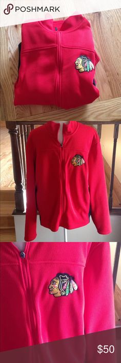 Official Licensed NHL black hawks thermal jacket Excellent used condition NHL Jackets & Coats