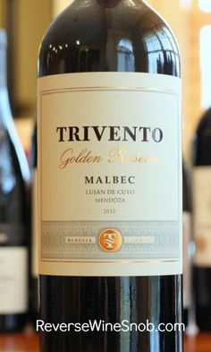 A top of the line #wine from Bodega Trivento lives up to its name. #winelover