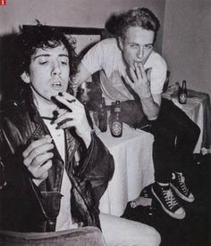 Mick Jones and Joe Strummer