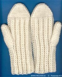 Варежки крючком Free Crochet, Knit Crochet, Crochet Hats, Gloves, Crochet Patterns, Sewing, Knitting, Model, Crafts