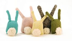 5 Bunny Nuggets (tails) by dangercrafts, via Flickr.  This shows the back; the front is cute, also.  Free pattern
