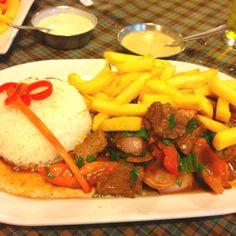 Peruvian food - lomo saltado... Don Bosco?