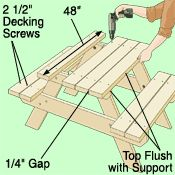Build a children's picnic table
