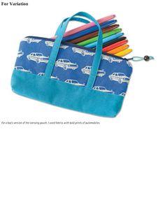 Children's Pencil Bag. DIY tutorial