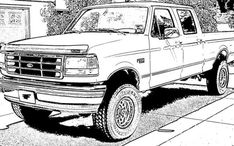 Printable coloring pages of 16 Ford Truck Coloring Pages 6794 - Ford Truck Coloring Pages on ColoringPin best coloring pages for kids and adult Truck Coloring Pages, Printable Coloring Pages, Coloring Sheets, Coloring Pages For Kids, Adult Coloring, Coloring Books, Lowrider Drawings, Cool Car Drawings, Bike Art