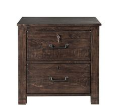 Pine Hill Transitional Rustic Pine Wood Lateral File