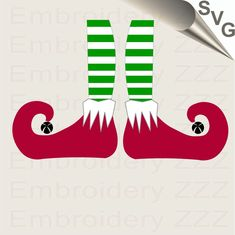 Christmas Artwork, Christmas Elf, Christmas Crafts, Cricut Air 2, Cricut Htv, Elf Drawings, Elf Legs, Elf Face, Pictures Of Shoes