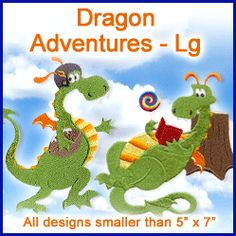 A Dragon Adventures Design Pack - Lg design (X6515) from www.Emblibrary.com