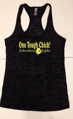 One Tough Chick Endometriosis Fighter Tank by TheStickerGirl