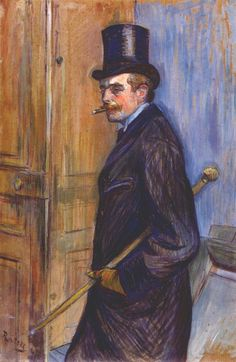 Monsieur Louis Pascal Artist: Henri de Toulouse-Lautrec Completion Date: 1891 Style: Post-Impressionism Genre: portrait Technique: oil Material: board Dimensions: 81 x 54 cm Gallery: Musee Toulouse Lautrec Tags: male-portraits