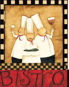 chefs | Three Chefs Wine Bistro II Arte por Dan Dipaolo en AllPosters.es
