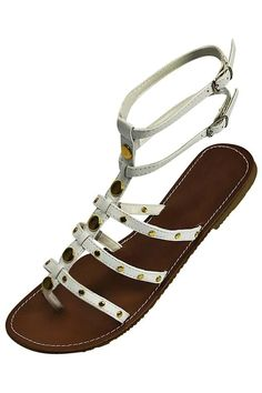 Strappy Gladiator Style Flat Womens Sandals Flat Gladiator Sandals 43cd41f2d87