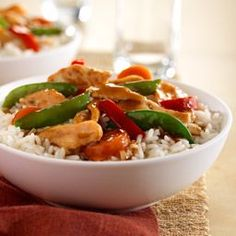 Chicken and Vegetable Stir-Fry ... ready in only 15 minutes with just five ingredients.