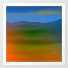 Warm Hillscape Sunset Art Print by Grandmachismo - $12.48