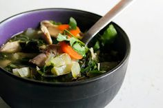 gingery chicken and bok choy soup