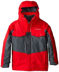 Columbia Sportswear Boy's Bugaboo Interchange Jacket, Bright Red/Graphite, X-Small   Ski Equipment