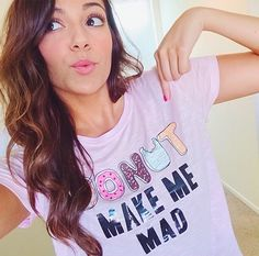 Wearing one of my very own tees today!  make me mad lol get it? Maybe? K I'm done lol.
