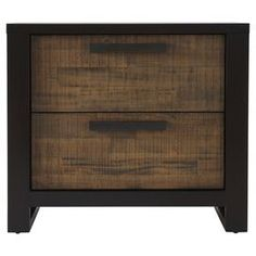 "A handsome addition to your master suite or guest room, this stylish nightstand showcases 2 drawers and a rich 2-tone mahogany finish   Product: NightstandConstruction Material: WoodColor: MahoganyFeatures:  Two drawersTwo-tone finishDimensions: 24"" H x 28"" W x 19"" D"