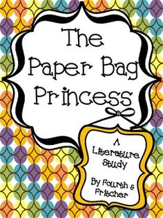 the paper bag princess literacy activities fun projects include character puppets for reader 39 s. Black Bedroom Furniture Sets. Home Design Ideas