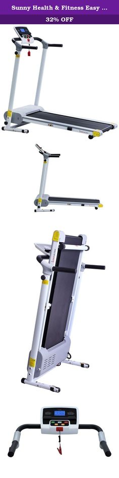 Sunny Health & Fitness Easy Assembly Motorized Walking Treadmill, White. For over a decade, Sunny Health & Fitness has been the premiere distributor of high quality health and fitness products. Headquartered in Los Angeles, California with a wide network of top manufacturers in Taiwan and China, Sunny health and fitness has established long-lasting professional relationships that have Enabled us to offer much more competitive pricing than the average industry distributor to you, our...