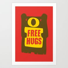 Buy Free bear hugs by Tee and toast as a high quality Art Print. Tee and Toast now on Society 6 Bear Hugs, Free Hugs, Rocks, Toast, Art Prints, Fictional Characters, Art Impressions, Fine Art Prints, Stone