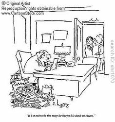 Clean Desk funny cartoons from CartoonStock directory - the world's largest on-line collection of cartoons and comics. Clean Desk, Funny Cartoons, Cartoon Images, Classroom Organization, Office Desk, Cleaning, Work Week, Comics, Artist