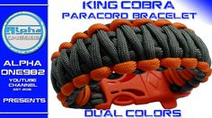 Paracord bracelet King Cobra with buckles dual color   2016 - YouTube