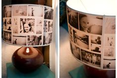 4. An inspiring DIY photo collage lampshade...either this or the one with the photo slides?  hmmm Maybe both!