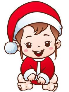 Illustration of Vector Illustration of Cartoon Cute Baby Santa vector art, clipart and stock vectors. Santa Cartoon, Cartoon Pics, Cartoon Drawings, Cute Drawings, Bebe Vector, Cow Vector, Kids Vector, Baby Images, Cute Images