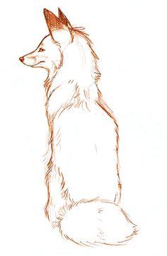Sitting Red Fox by Joava on DeviantArt Animal Sketches, Art Drawings Sketches, Animal Drawings, Cute Drawings, Cartoon Drawings, Fox Sketch, Fuchs Illustration, Fox Drawing, Fox Art
