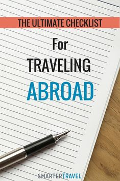 The Ultimate Checklist for Traveling Abroad
