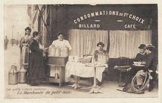 """Les petits métiers du Paris d'antan La marchande de """"petit-noir""""... café"""