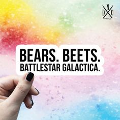 GT Graphics Bears Beets Battlestar Galactica The Office Vinyl Sticker Waterproof Decal