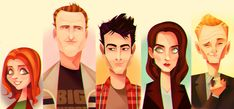 Brilliant HIMYM character designs/caricatures by lerms on deviantArt