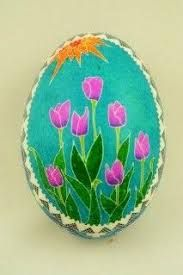 Springtime Pysanky- love this. I'm used to seeing the more traditional designs when we did this up in Michigan. Easter Art, Easter Crafts, Egg Designs, Flower Designs, Egg Shell Art, Quilting Designs, Quilt Design, Ukrainian Easter Eggs, Easter Traditions