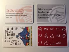 Ogoola Karuta English cards using poems by English, American, Irish and Scottish poets. Karuta is a game about listening and being fast. Anyone can play as soon as they can read. It uses poetry quotes- a door opener to poetry for everyone in the family. Soon your kids will know more poems than you! #karuta #chihayafuru #poetry #poetrygame #read #familygame #cardgame #japanesegame Poetry Game, Writing Poetry, Poetry Books, Poetry Quotes, Japanese Poem, Japanese Games, Scottish Poems, Martial Arts Games, Poetry Projects