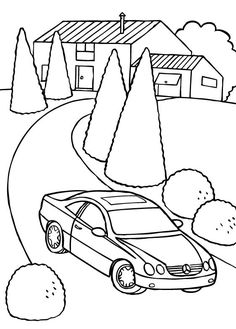 mercedes cl coloring page mercedes car coloring pages