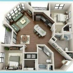 50 One 1 Bedroom ApartmentHouse Plans Story house 3d and Bedrooms