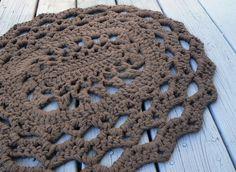 Very cool crocheted rug.