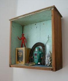 old drawer, as shelf