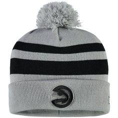 2b7402d43079fd Atlanta Hawks New Era Rebound Cuffed Knit Hat with Pom - Gray/Black  #AtlantaHawks