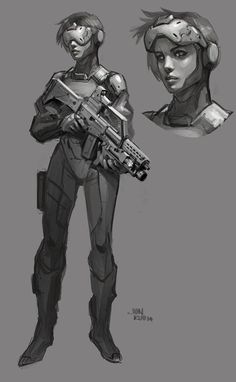 By jonathan kuo cyberpunk character design, character concep Character Concept, Character Art, Concept Art, Character Reference, Cyberpunk Character, Cyberpunk Art, Medieval Combat, Soldado Universal, Science Fiction